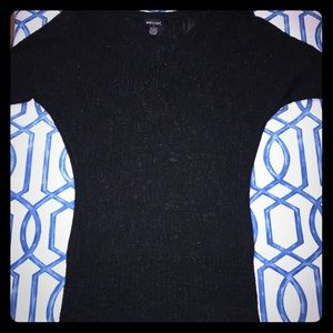Wet Seal Sparkly Black Sweater Size L